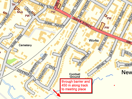 location of entrance to Chesworth Farm
