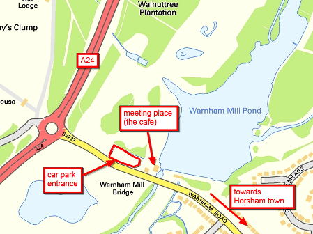 location of Warnham Local Nature Reserve