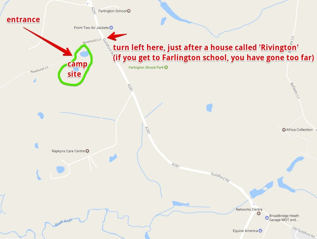 Nowhurst - location map